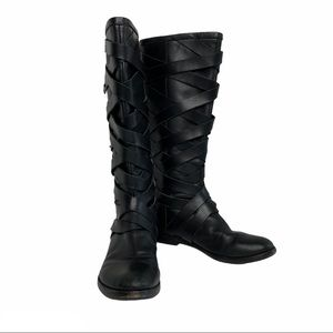 CREATIVE RECREATION Black Strappy Boots